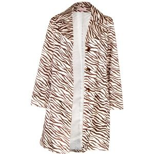 Via Spiga Zebra Print Trench Coat